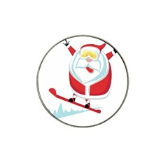 Christmas Santa Claus Playing Sky Snow Hat Clip Ball Marker
