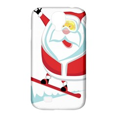Christmas Santa Claus Playing Sky Snow Samsung Galaxy S4 Classic Hardshell Case (pc+silicone)