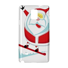 Christmas Santa Claus Playing Sky Snow Samsung Galaxy Note 4 Hardshell Case by Alisyart