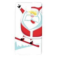 Christmas Santa Claus Playing Sky Snow Galaxy Note 4 Back Case by Alisyart