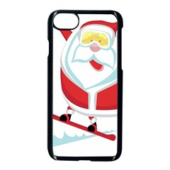 Christmas Santa Claus Playing Sky Snow Apple Iphone 8 Seamless Case (black) by Alisyart