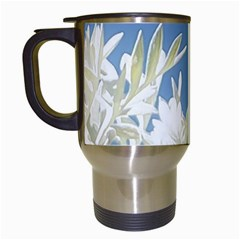 Nature Pattern Travel Mugs (white) by dflcprintsclothing
