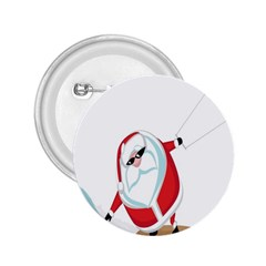 Christmas Santa Claus Snow Cool Sky 2 25  Buttons