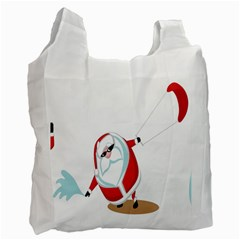Christmas Santa Claus Snow Cool Sky Recycle Bag (one Side) by Alisyart