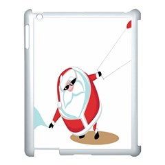 Christmas Santa Claus Snow Cool Sky Apple Ipad 3/4 Case (white)
