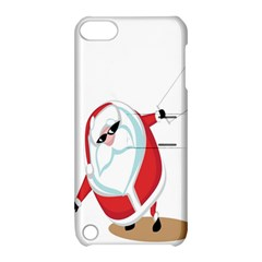 Christmas Santa Claus Snow Cool Sky Apple Ipod Touch 5 Hardshell Case With Stand by Alisyart