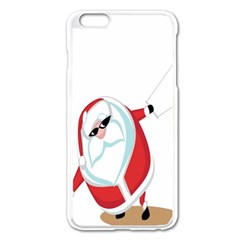 Christmas Santa Claus Snow Cool Sky Apple Iphone 6 Plus/6s Plus Enamel White Case by Alisyart