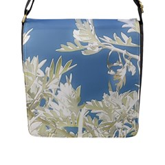 Nature Pattern Flap Messenger Bag (l)  by dflcprintsclothing