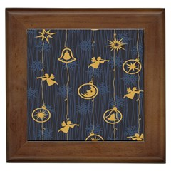 Christmas Angelsstar Yellow Blue Cool Framed Tiles