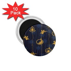 Christmas Angelsstar Yellow Blue Cool 1 75  Magnets (10 Pack)