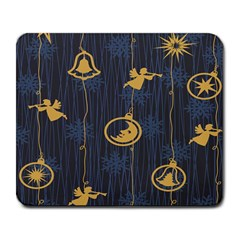 Christmas Angelsstar Yellow Blue Cool Large Mousepads by Alisyart