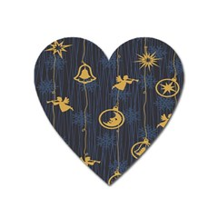Christmas Angelsstar Yellow Blue Cool Heart Magnet by Alisyart