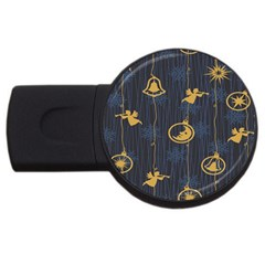 Christmas Angelsstar Yellow Blue Cool Usb Flash Drive Round (2 Gb)