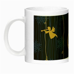 Christmas Angelsstar Yellow Blue Cool Night Luminous Mugs by Alisyart