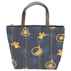 Christmas Angelsstar Yellow Blue Cool Bucket Bags by Alisyart