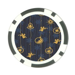 Christmas Angelsstar Yellow Blue Cool Poker Chip Card Guard (10 Pack) by Alisyart