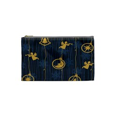 Christmas Angelsstar Yellow Blue Cool Cosmetic Bag (small)