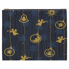 Christmas Angelsstar Yellow Blue Cool Cosmetic Bag (xxxl)