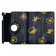 Christmas Angelsstar Yellow Blue Cool Apple Ipad 3/4 Flip 360 Case