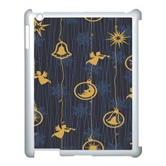 Christmas Angelsstar Yellow Blue Cool Apple Ipad 3/4 Case (white)
