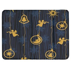 Christmas Angelsstar Yellow Blue Cool Samsung Galaxy Tab 7  P1000 Flip Case