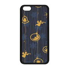 Christmas Angelsstar Yellow Blue Cool Apple Iphone 5c Seamless Case (black)