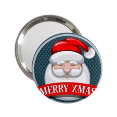 Christmas Santa Claus Xmas 2 25  Handbag Mirrors by Alisyart