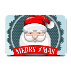 Christmas Santa Claus Xmas Small Doormat  by Alisyart