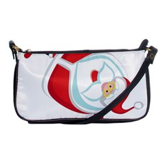 Christmas Santa Claus Snow Sky Playing Shoulder Clutch Bags