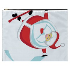 Christmas Santa Claus Snow Sky Playing Cosmetic Bag (xxxl)