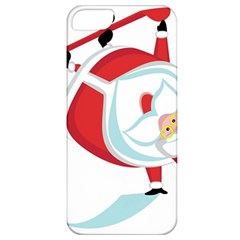 Christmas Santa Claus Snow Sky Playing Apple Iphone 5 Classic Hardshell Case