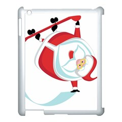 Christmas Santa Claus Snow Sky Playing Apple Ipad 3/4 Case (white)