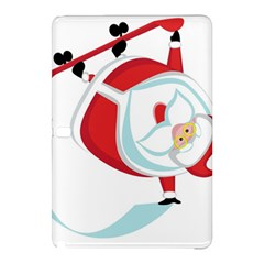 Christmas Santa Claus Snow Sky Playing Samsung Galaxy Tab Pro 12 2 Hardshell Case by Alisyart