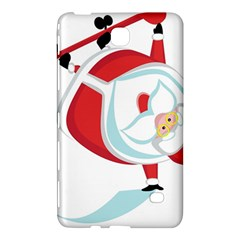 Christmas Santa Claus Snow Sky Playing Samsung Galaxy Tab 4 (8 ) Hardshell Case  by Alisyart
