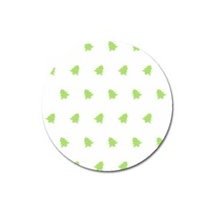 Christmas Tree Green Magnet 3  (round)