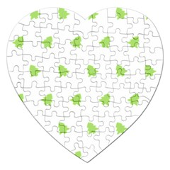 Christmas Tree Green Jigsaw Puzzle (heart) by Alisyart
