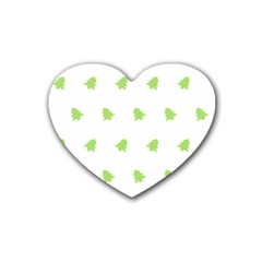 Christmas Tree Green Heart Coaster (4 Pack)