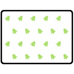 Christmas Tree Green Double Sided Fleece Blanket (large)