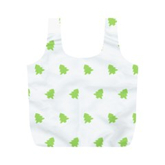 Christmas Tree Green Full Print Recycle Bags (m)  by Alisyart