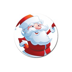 Christmas Santa Claus Snow Red White Magnet 3  (round) by Alisyart