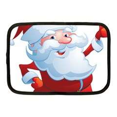 Christmas Santa Claus Snow Red White Netbook Case (medium)  by Alisyart