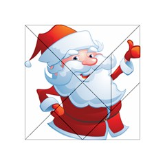 Christmas Santa Claus Snow Red White Acrylic Tangram Puzzle (4  X 4 )