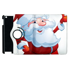 Christmas Santa Claus Snow Red White Apple Ipad 3/4 Flip 360 Case by Alisyart