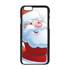 Christmas Santa Claus Snow Red White Apple Iphone 6/6s Black Enamel Case by Alisyart