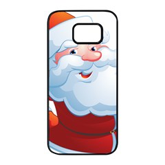 Christmas Santa Claus Snow Red White Samsung Galaxy S7 Edge Black Seamless Case by Alisyart