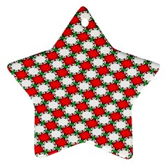 Christmas Star Red Green Ornament (star) by Alisyart