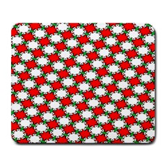 Christmas Star Red Green Large Mousepads by Alisyart