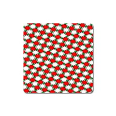 Christmas Star Red Green Square Magnet by Alisyart