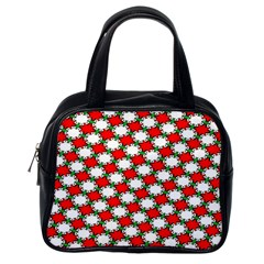 Christmas Star Red Green Classic Handbags (one Side) by Alisyart