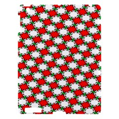 Christmas Star Red Green Apple Ipad 3/4 Hardshell Case by Alisyart